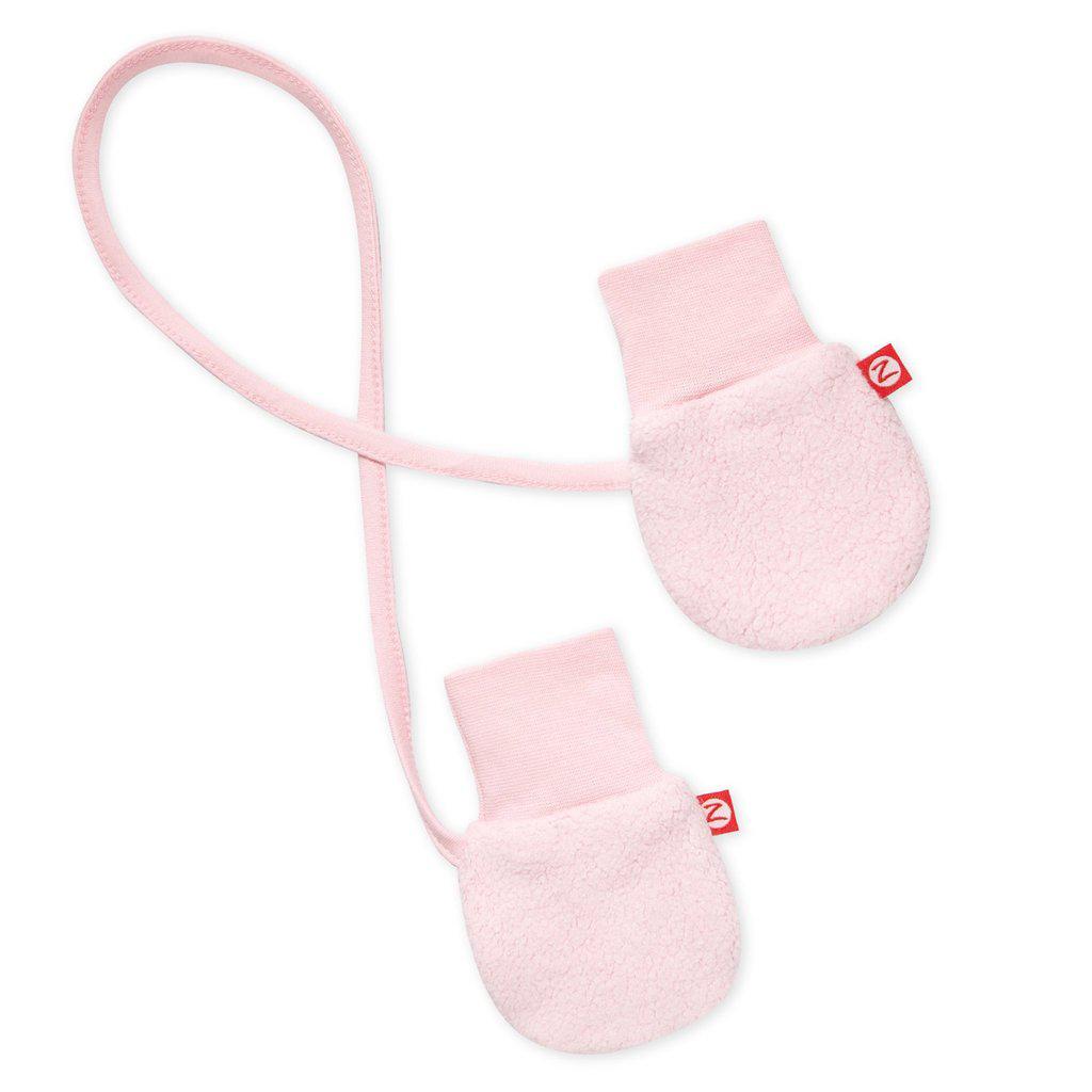 Baby Pink cozie fleece mittens 1