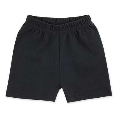 Black solid shorts 1