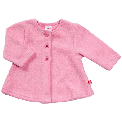 Hot Pink Cozie fleece swing jacket 1